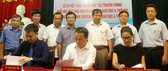 Báo Giáo dục và Thời đại ký kết hợp tác truyền thông với Đại học Thái Nguyên